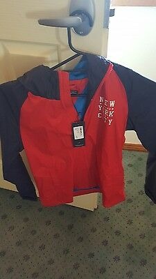 Bnwt Tommy Hilifiger Boys Hooded Windcheater Jacket Size 14