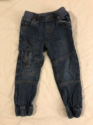 Vertbaudet Boys Cotton Jeans Age 3 Years Blue