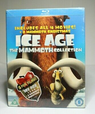 Ice Age 1-4 plus Mammoth Christmas: The Mammoth Collection [2002] (Blu-ray)