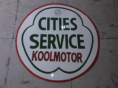 """Cities Service Koolmotor Enamel Porcelain Sign SIZE 36"""" INCHES"""