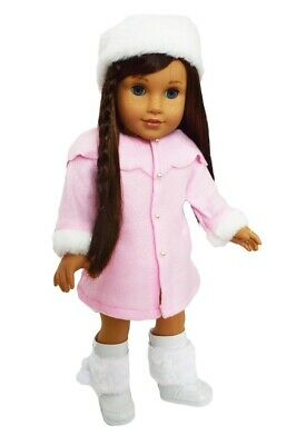 Pink Coat & Hat For American Girl Dolls 18 Inch Doll Clothes