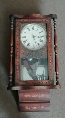 Antique Wood Cased Wall Clock