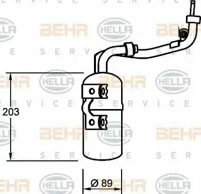 Hella AIR CONDITIONING RECEIVER-DRIER II C-MA 8FT351335-061 OE 1223457 1232435