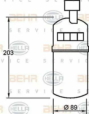 Air Conditioning dehumidifier 8FT351335-041 by Hella - Single