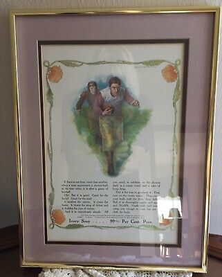 Proctor & Gamble 1907 Saturday Evening Post Ivory Soap Framed Double Matted