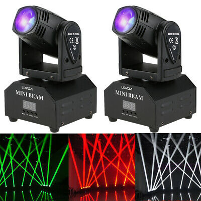 2 PACK 50W LED RGBW Moving Head Stage Light DMX512 Disco Party Effect Light R1G0