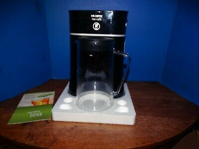 Mr. Coffee Tea Cafe 2-in-1 Black Iced Tea Maker With Glass Pitcher