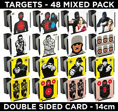 HOSTILE HOSTAGE MIX Air Rifle Pistol Gun BB Airsoft Shooting Targets 14cm 50 Pk