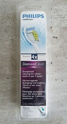 Philips Sonicare Diamond Clean Replacement Toothbrush Heads x4 HX6064 NEW