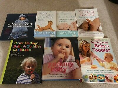 Baby Parenting Feeding Sleep Knit Week by week book bundle