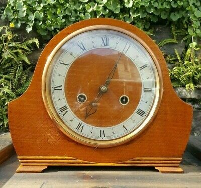 Antique Smiths Enfield Mantel Clock,Brass Mechanism,  Made in England