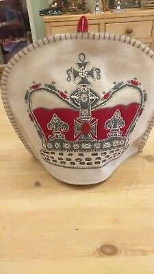 Vintage Tea Cosy Hand Embriodered  Royal Crown  100%Wool