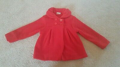Next Girls Winter Smart Red Coat 5-6 years Excellent Condition