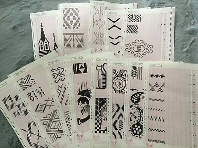 Mylar Sheets For Electronic Knitting Machines FAIRISLE Pattern Cards