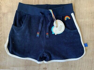 Little Bird By Jools Oliver Boys/Girls Navy Towelling Shorts 3-4 Years 🌈 BNWT