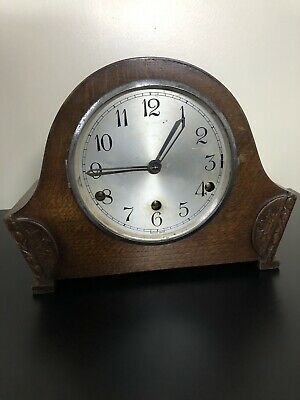 Vintage Clock - Wooden Mantel Chiming Clock 🕰 For Spares Or Repair
