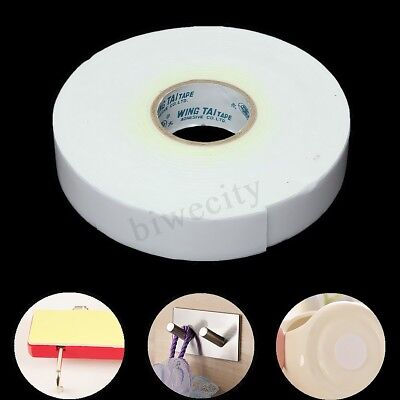 5m White Double Sided Strong Sticky Adhesive Foam Tape Mount Fixing Pad Home