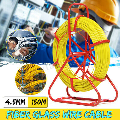 4.5mm 150M Fish Tape Fiberglass Wire Cable Running Rod Duct Rodder Puller US