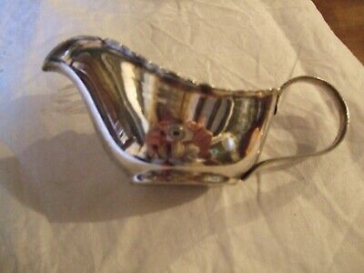 David Mappin  Sheffield Ltd Vintage Silver Plate Cream Jug / Sauce Boat.