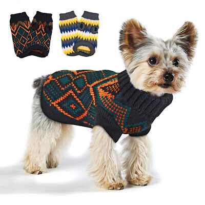 Dog Sweaters for Small Dog Winter Clothes Christmas Cat Puppy Jumper Black S-2XL