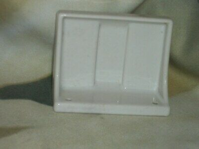 Vintage White Ceramic Bath Room Wall Mount Soap Holder for  Restoration