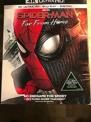 Spiderman Far From Home (4K UHD, Blu-ray, Digital) w/Slipcover *BRAND NEW*