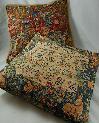 2 Vintage Tapestry Style Cushions (1 Buckingham) Feather Cushion Pads