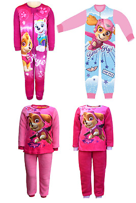 Girls Paw Patrol All In One Sleepsuit Kids Fleece Paw Patrol Pyjamas Age 3-8 Ys