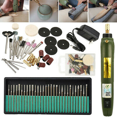 Electric Engraving Pen Engraver Jewelry Wood Carving Polishing Tool + 30X