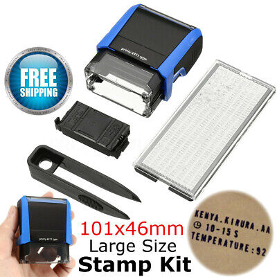 DIY Rubber Stamp Kit Personalised Customised Self Inking Business Address