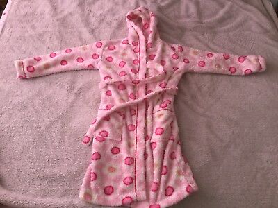John Lewis Girls Dressing Gown In Pink Mainly Size 7-8 Years