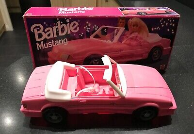 barbie mustang pink car in original box from 1993