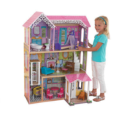 KidKraft Sweet & Pretty Dollhouse with 15 accessories included