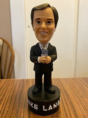 Mike Lange TALKING Bobblehead Pittsburgh Penguins Great Condition