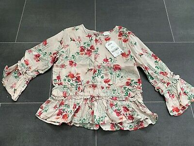 BNWT Girls Floral Blouse Top, Size 6 Years