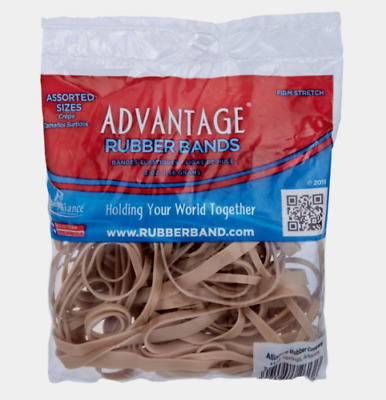 Alliance RUBBER BANDS Firm Stretch Assorted Sizes Office Home Business 2 oz NEW!