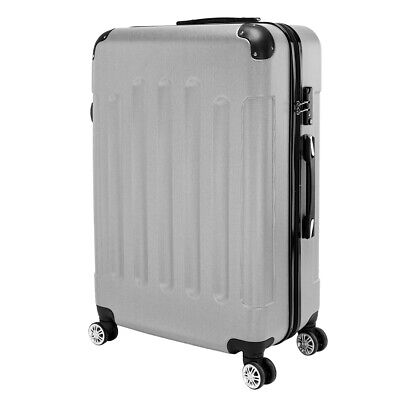 "20"" 24"" 28"" Gray Luggage Travel Set Bag ABS Trolley Suitcase Spinner Hardshell"