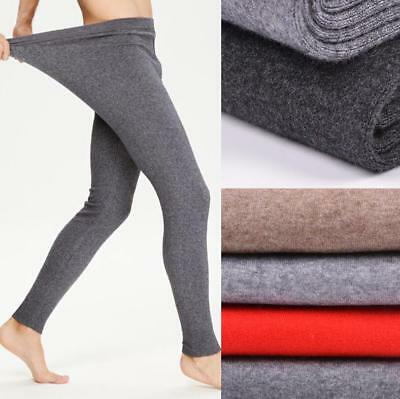 Mens Cashmere Wool Thermal Winter Underwear Thin Knitted Long Johns Pants New