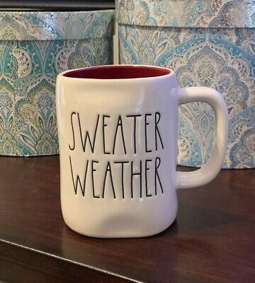 New 2019 RAE DUNN SWEATER WEATHER Coffee Mug Artisan Collection By Magenta VHTF