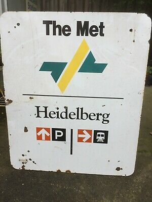 "Original  ""Met"" Railway Sign"