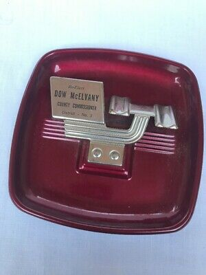 Old Re-Elect Dow McElvany  County Commissioner Lincoln County Oklahoma Ashtray