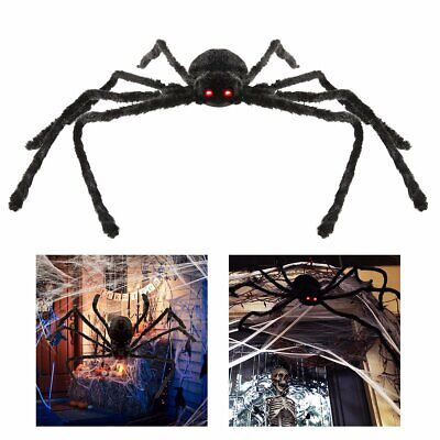 4ft Halloween Hanging Decoration Giant Realistic Hairy SPIDER Outdoor Yard Decor