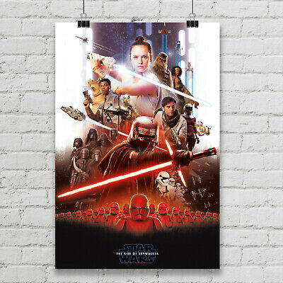 "Rise of Skywalker Star Wars Movie Poster Canvas Art Giclee' Print 24"" X 36"""