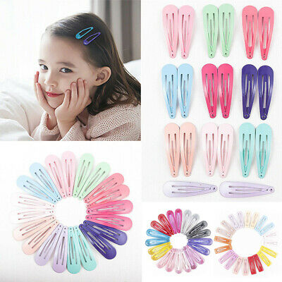 Candy Color Children Snap Hair Clips Barrettes Girls Cute Hairpin Hairgrip Acces