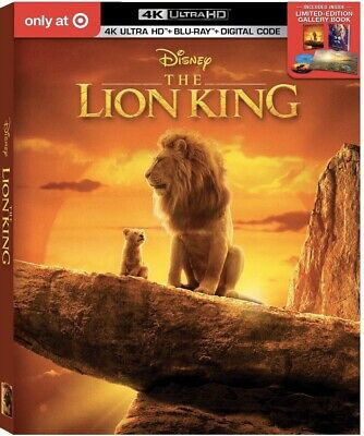 The Lion King 2019 Live Action Target Exclusive 4k HD+Blu-ray+Dig+Book Preorder