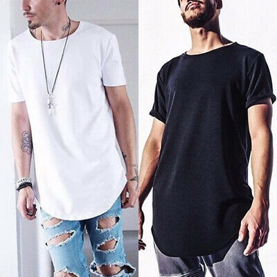 Mens Slim T-shirt Top Casual Short-sleeve Classic Loose Solid Color T-shirt