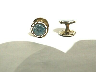 "Vintage Enameled cufflinks ""ONE PIECE KWICKON"" (c.1920's; excellent)"