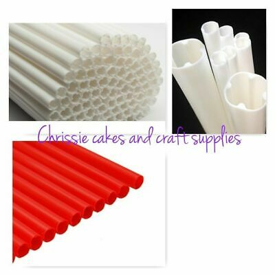 100 xWHITE POLY DOWELS interior cake support for cakes plastic CAKE DOWELS SMALL