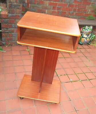 Wooden Lectern Podium Stand on Castors Ashwood Melb.
