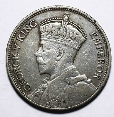 1934 New Zealand One 1 Florin - George V